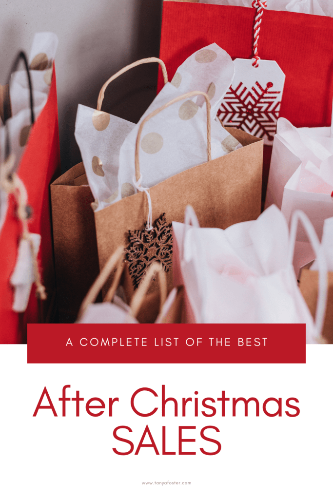a complete list of the best after christmas sales shopping bags
