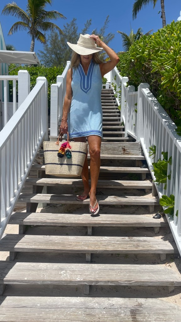 Tanya Foster wearing cabana life terry cloth cover up