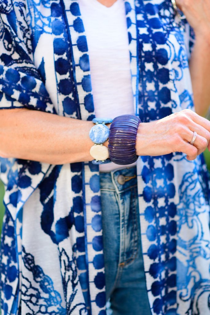 linen chicos wrap and chicos bracelets