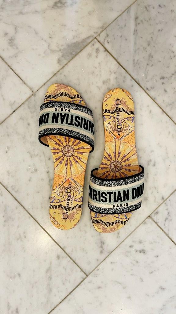 christian dior slide sandals
