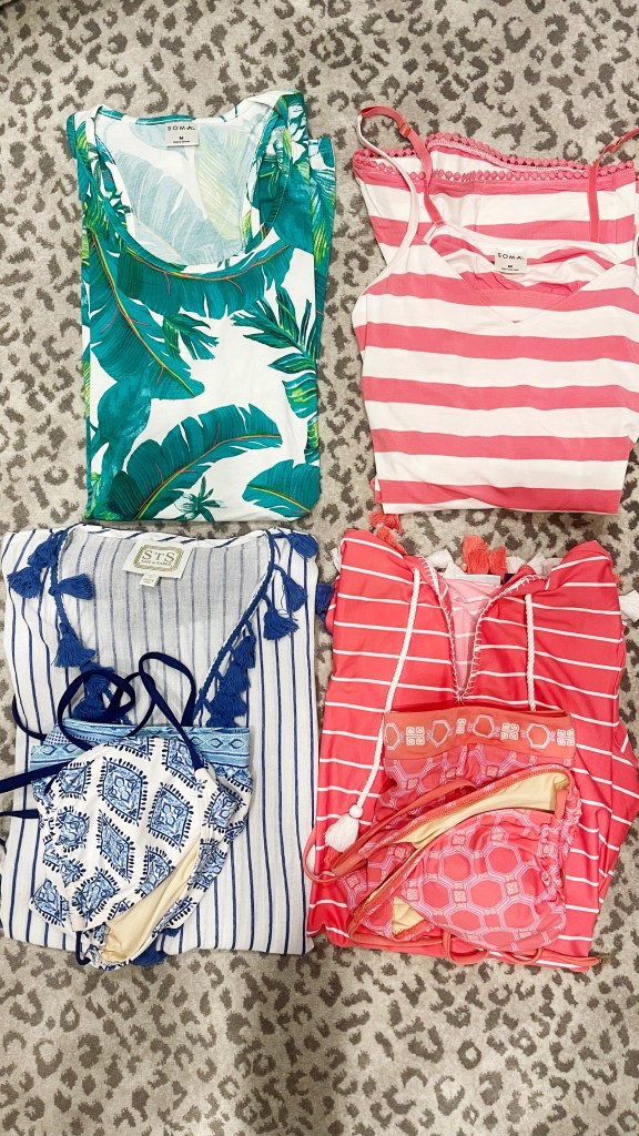 Soma pajamas and cabana life cover up and swimsuits