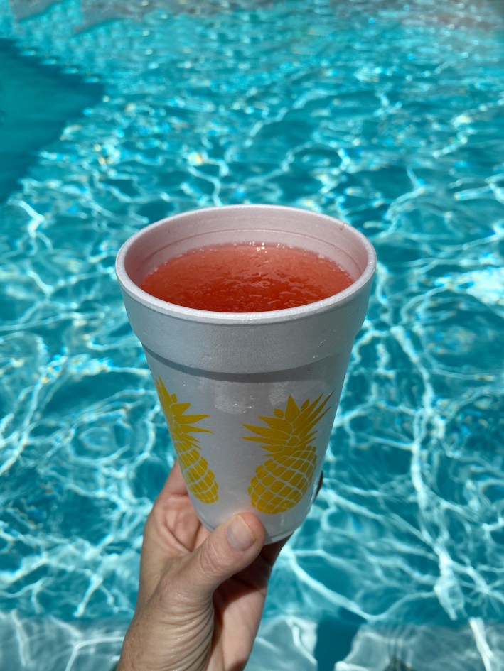 happy hour at home the grape ape dfw frose by the pool