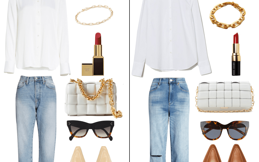 How to Wear a White Button Down Blouse | High vs. Low