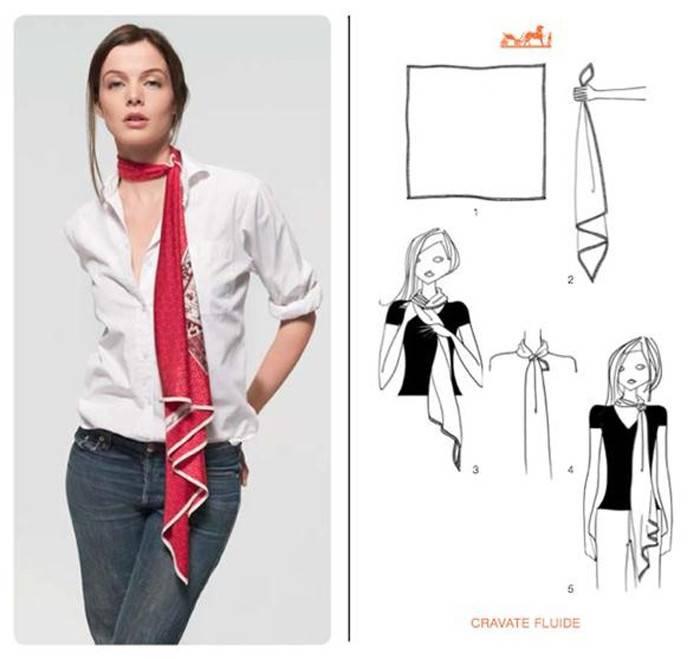 Hermes tie tutorial - long neck tie