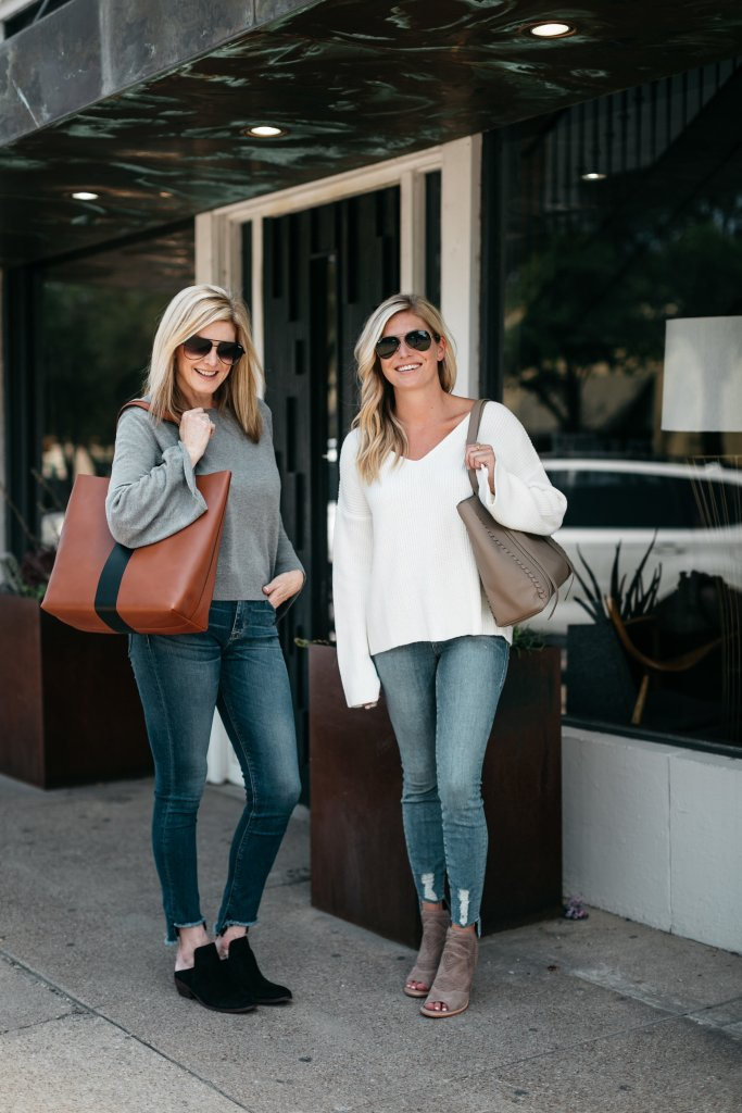 Raw hem denim trend from the Nordstrom Anniversary Sale on Tanya Foster and Brooke Burnett