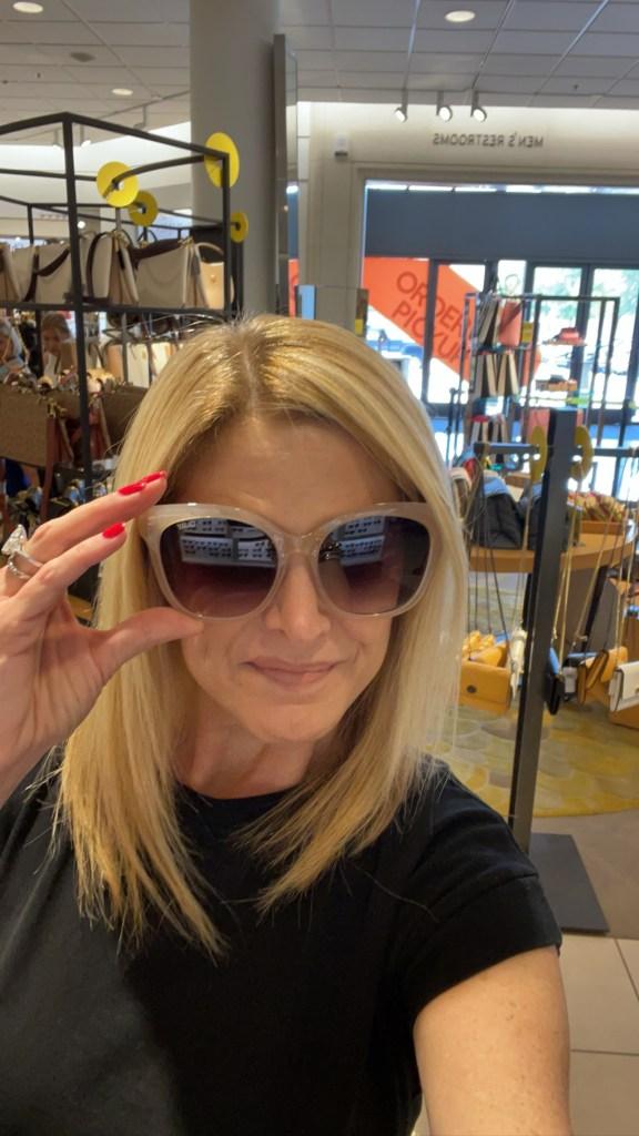 Tanya Foster wearing quay sunglasses