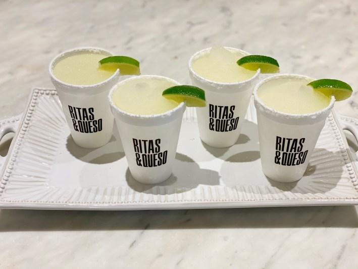 Rita's and Queso frozen margarita