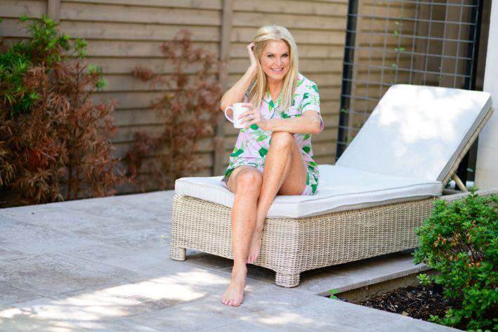 Tanya Foster wearing Printfresh pajamas