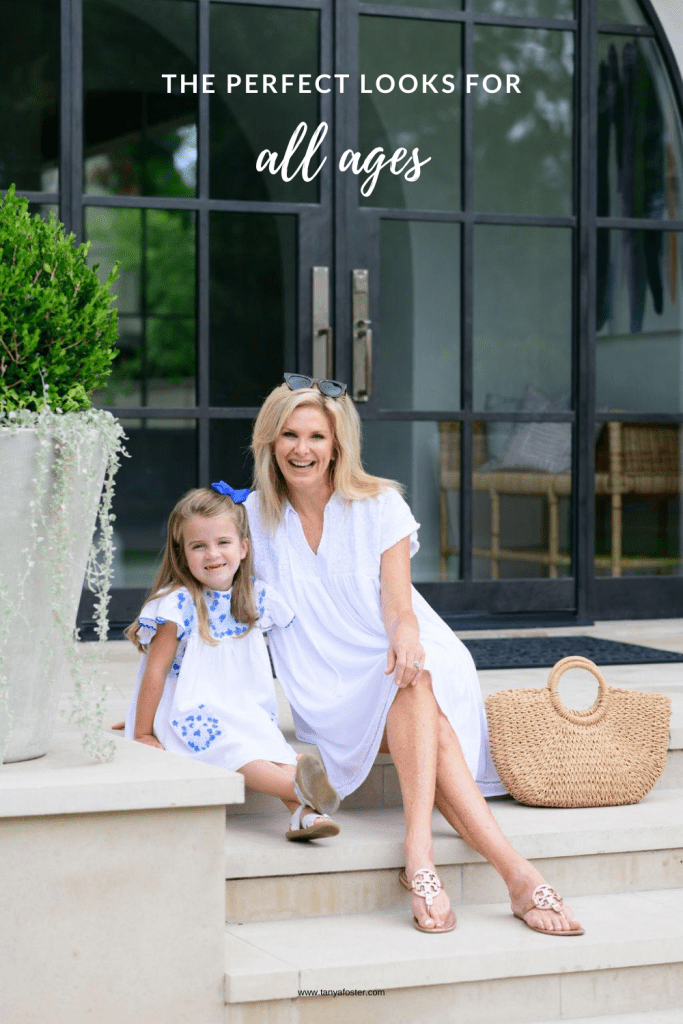 Tanya Foster and girl in J. Marie Collections dresses