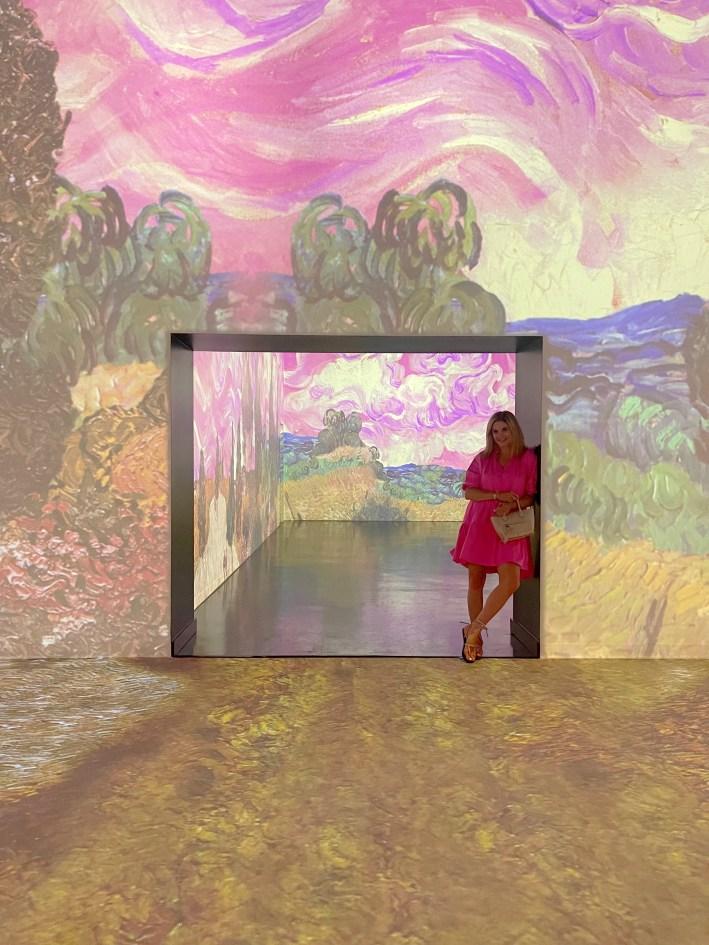 tanya foster inside the immersive van gogh exhibit dallas