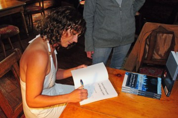First book event ever at the beautiful Holland Lake Lodge!