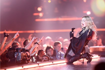 Madonna performs at Joe Louis Arena in Detroit during her Rebel Heart Tour, which stopped in her home state Thursday evening, Oct. 1, 2015. (Tanya Moutzalias | MLive Detroit)