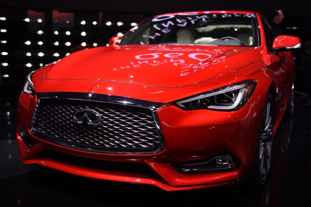 Infiniti unveiled its new Q60 sports coupe at the North American International Auto Show in Detroit on Monday, Jan. 11, 2016. The Q60 is equipped with moving object detection, blind spot monitoring, a 7-speed automatic transmission and a a 3-liter, V6, twin-turbo engine with two available power outputs at 300 or 400 horsepower. Executives of the luxury arm of Japanese automaker Nissan calls the engine its lightest, most powerful and cleanest engine ever. (Tanya Moutzalias | MLive Detroit)
