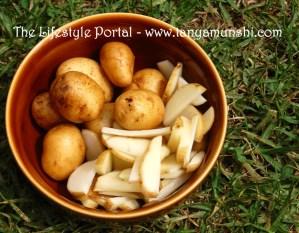Stir fry baby potatoes