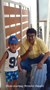 Mrinalini Awasthi (Her son with his daddy)