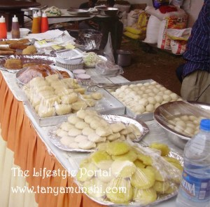 Bengali sweets for sale during Durga Puja