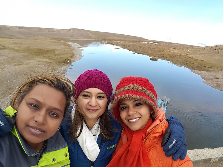 Nidhi Tiwari & her gang of girls on a road trip from Delhi to London. They were featured on Bohotraveller