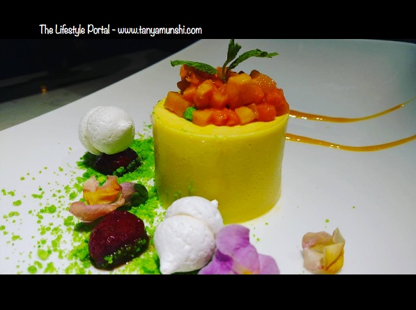 Mango Mousse Cake with Meringue & Strawberries