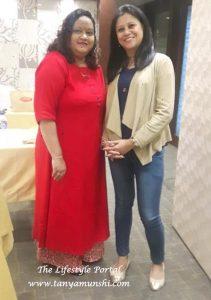 Siddhi Padgaonkar, Area Manager Ektra with Tanya Munshi