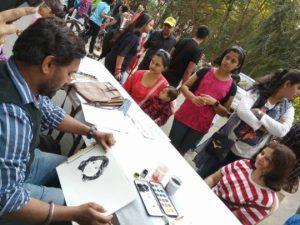 Artists corner at Street Konnect 2018