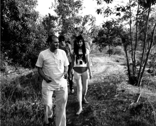Sejal and me, walking in Papa's footsteps. Photo courtesy: Seema Manchanda