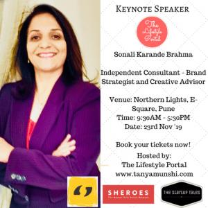Sonali Karande Brahma, Brand Strategist and a Creative Advisor