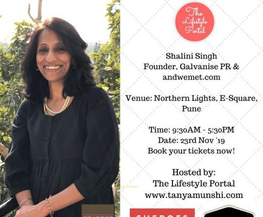 Shalini Singh, Founder, Galvanise PR and andwemet.com