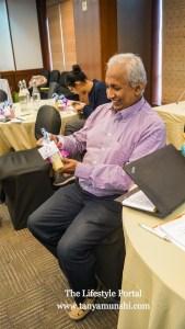 Hari Dasgupta, Country Head Shreeja India - all smiles with his gift