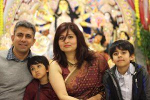 Arya Mukherjee with her family. Photo credit: Arya Mukherjee