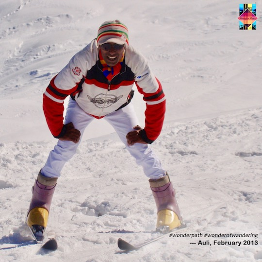 Adventerer at heart - Udit in Auli, in February 2013