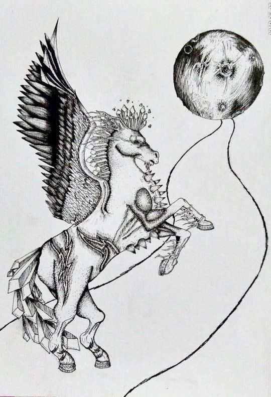 Anubhav's Entry for Jumbish Art Competition - Gallop to Heaven
