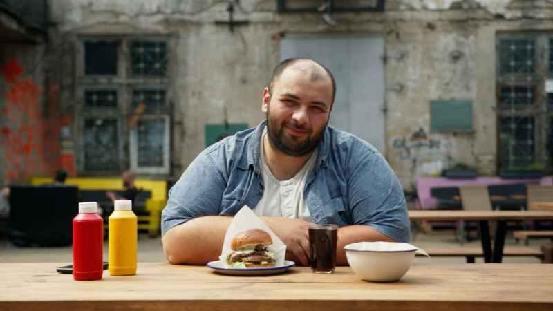 food sandwich restaurant man