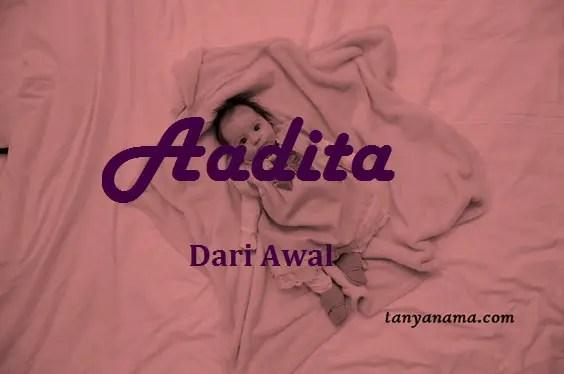 arti nama Aadita