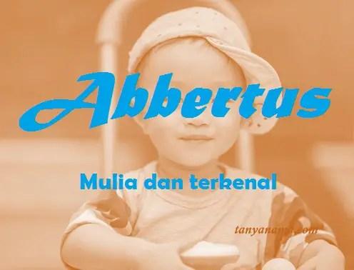 arti nama Abbertus