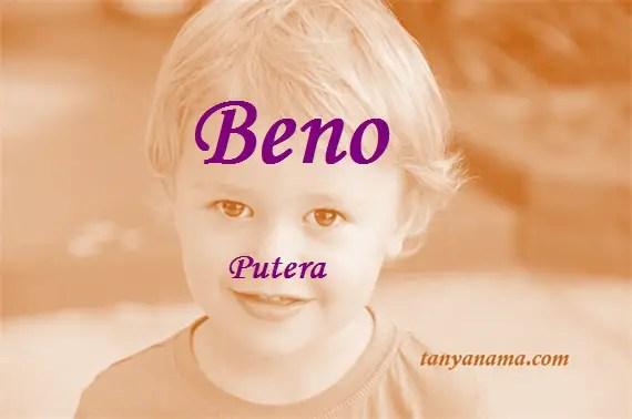 arti nama Beno