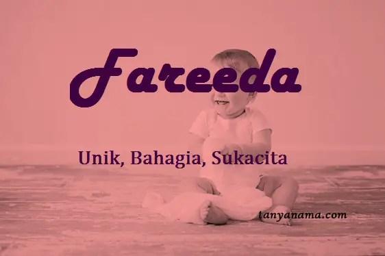 Arti Nama Fareeda Dan Rangkaian Namany
