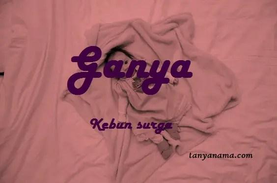 arti nama Ganya
