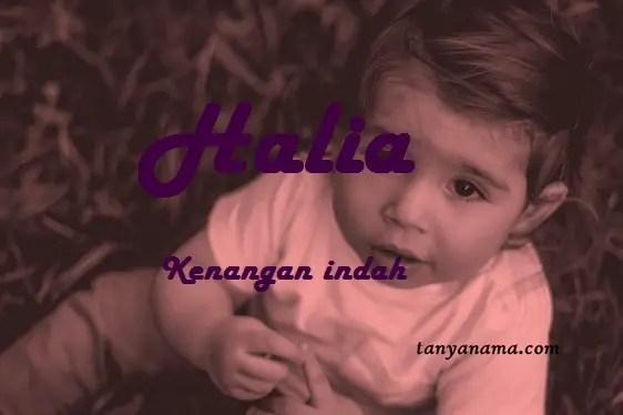 arti nama Halia