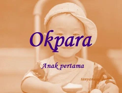 arti nama Okpara