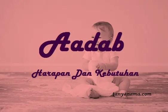 arti nama Aadab
