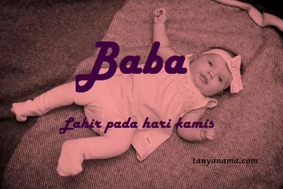 arti nama Baba