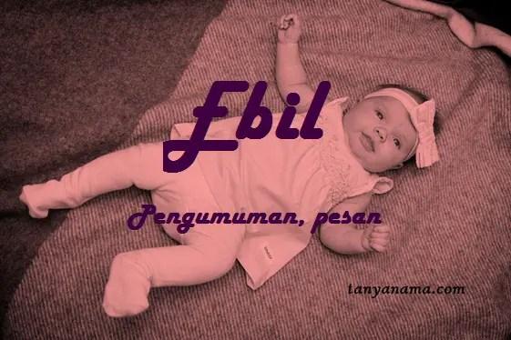 arti nama Ebil