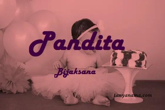arti nama Pandita