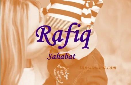 arti nama Rafiq