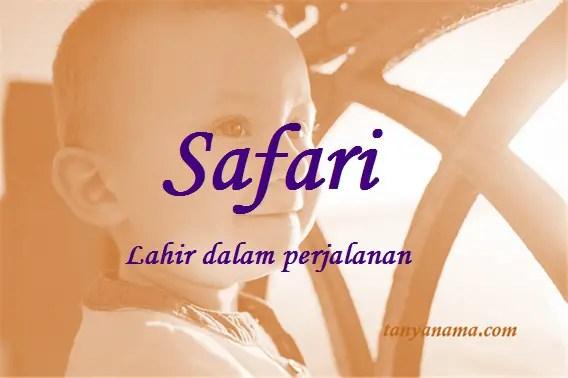 arti nama Safari