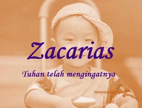 arti nama Zacarias