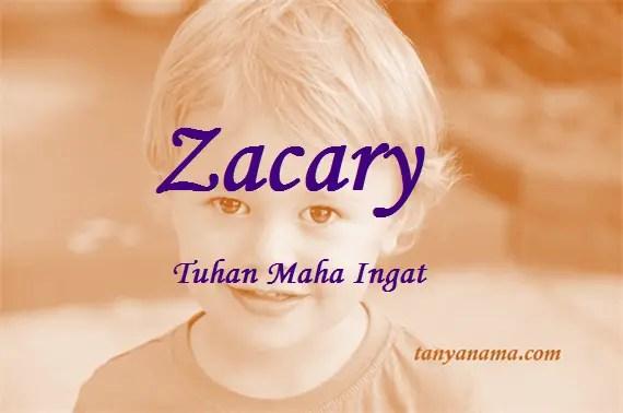 arti nama Zacary