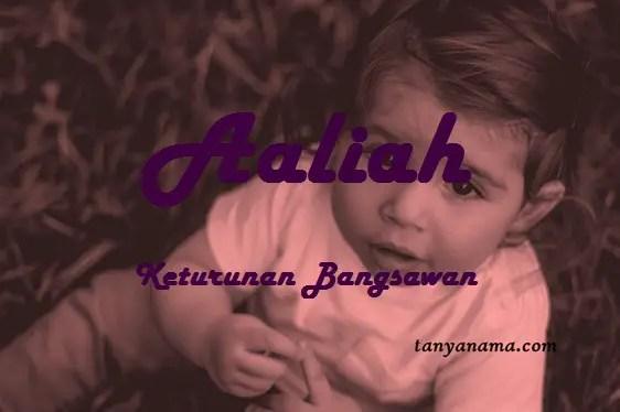 arti nama Aaliah