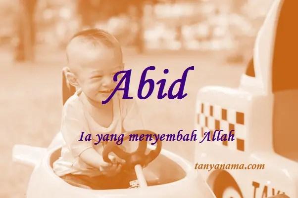 arti nama Abid