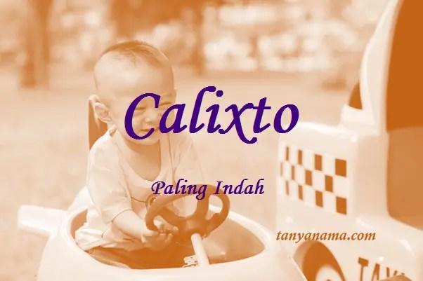 arti nama Calixto